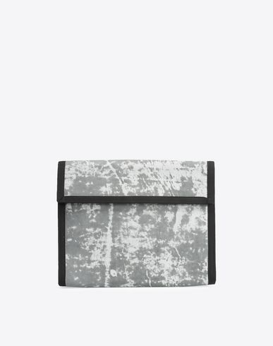MAISON MARGIELA Clutch U Galaxy print nylon and leather pouch f