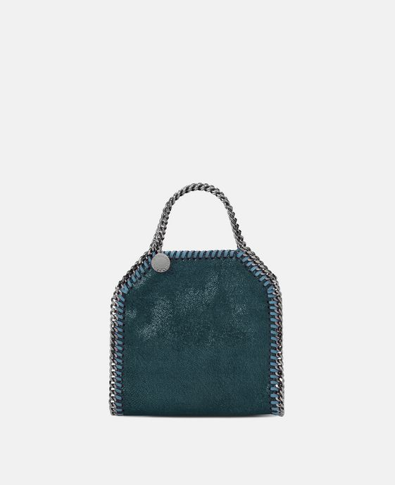 Petroleum Falabella Shiny Dotted Chamois Tiny Tote