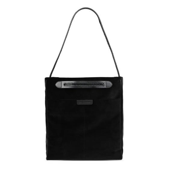 Black Velvet Falabella GO Tote Bag