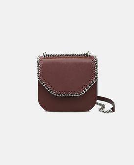 Bordeaux Falabella Box Mini Shoulder Bag