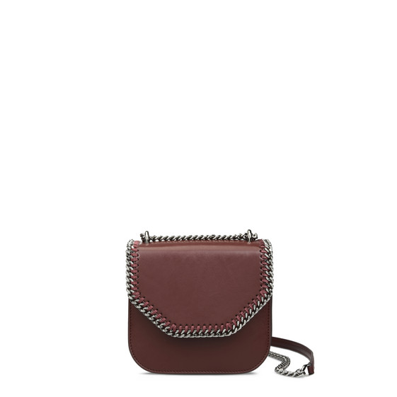 Borsa a Spalla Mini Falabella Box Bordeaux