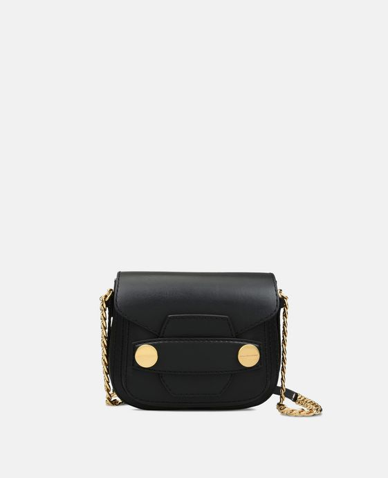 Black Stella Popper Shoulder Bag