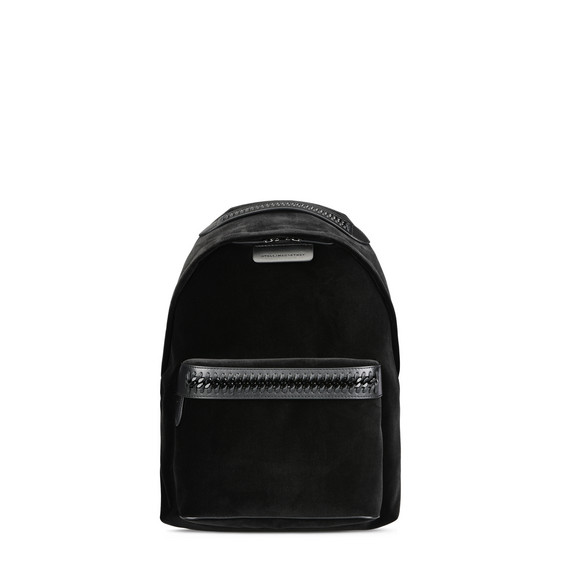 Black Velvet Falabella GO Backpack