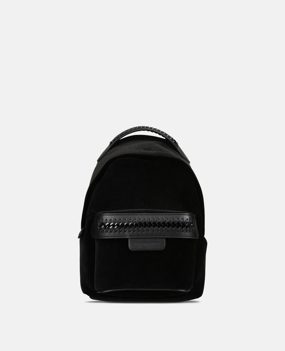 Black Velvet Falabella GO Mini Backpack