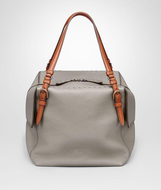 fa22c0de6d BOTTEGA VENETA LARGE SHOULDER BAG IN FUMÉ NEW CERVO Shoulder Bag       pickupInStoreShipping info