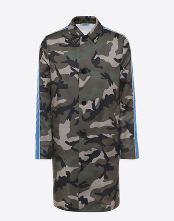 VALENTINO Long Camouflage coat with stripes 45352710JS