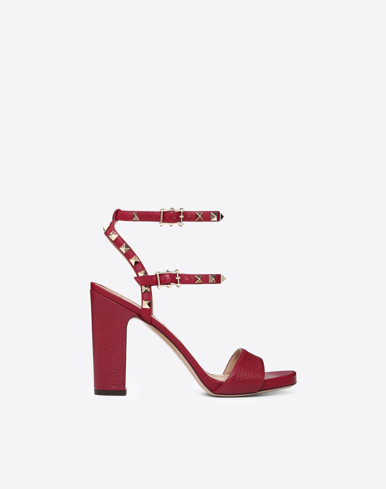 VALENTINO Studs Solid colour Leather sole Buckle  45352733qo