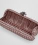 BOTTEGA VENETA STRETCH KNOT IN DESERT ROSE INTRECCIO FAILLE MOIRE Clutch D dp