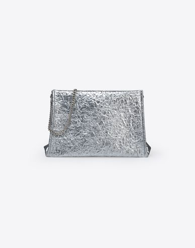 MAISON MARGIELA Clutch D Metallic pouch with chain strap f
