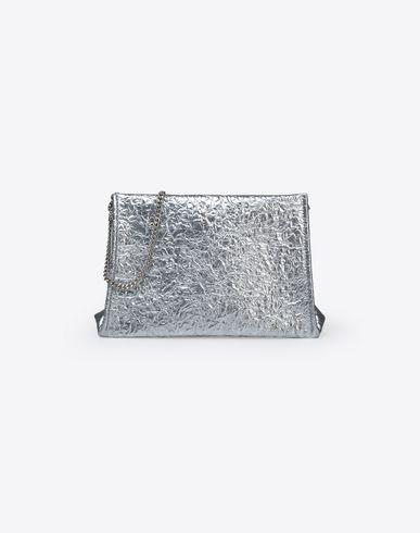 MAISON MARGIELA Metallic pouch with chain strap Clutch D f