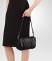 BOTTEGA VENETA SMALL DOPPIA BAG IN NERO NAPPA, INTRECCIATO DETAILS Shoulder or hobo bag Woman ap