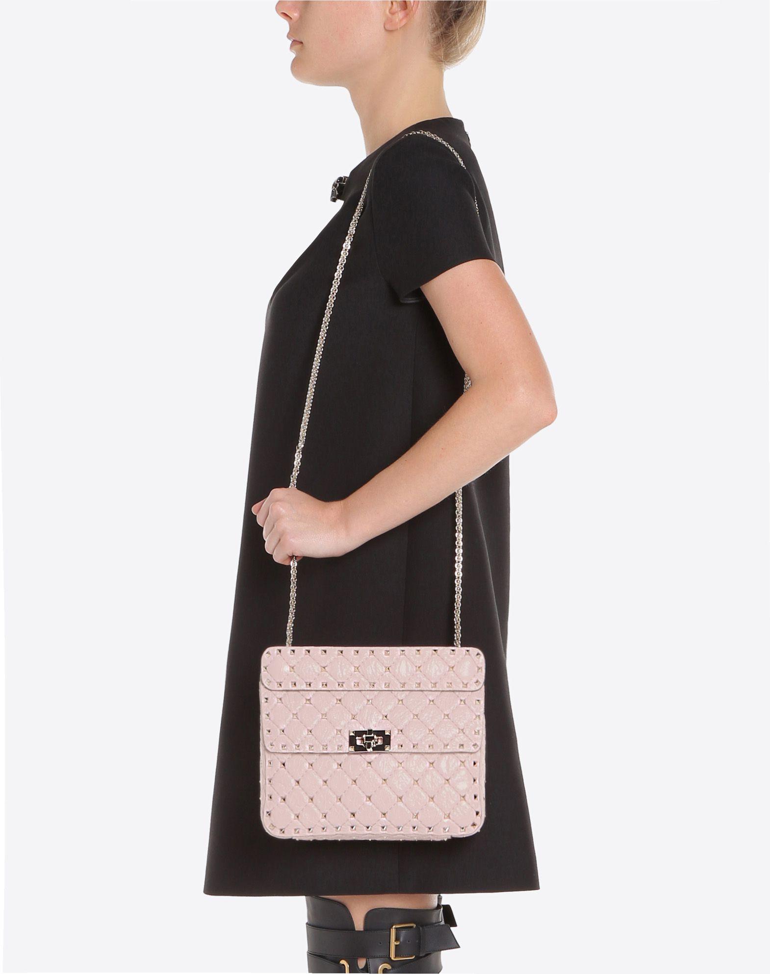 VALENTINO GARAVANI Rockstud Spike Medium Chain Bag Shoulder bag D a