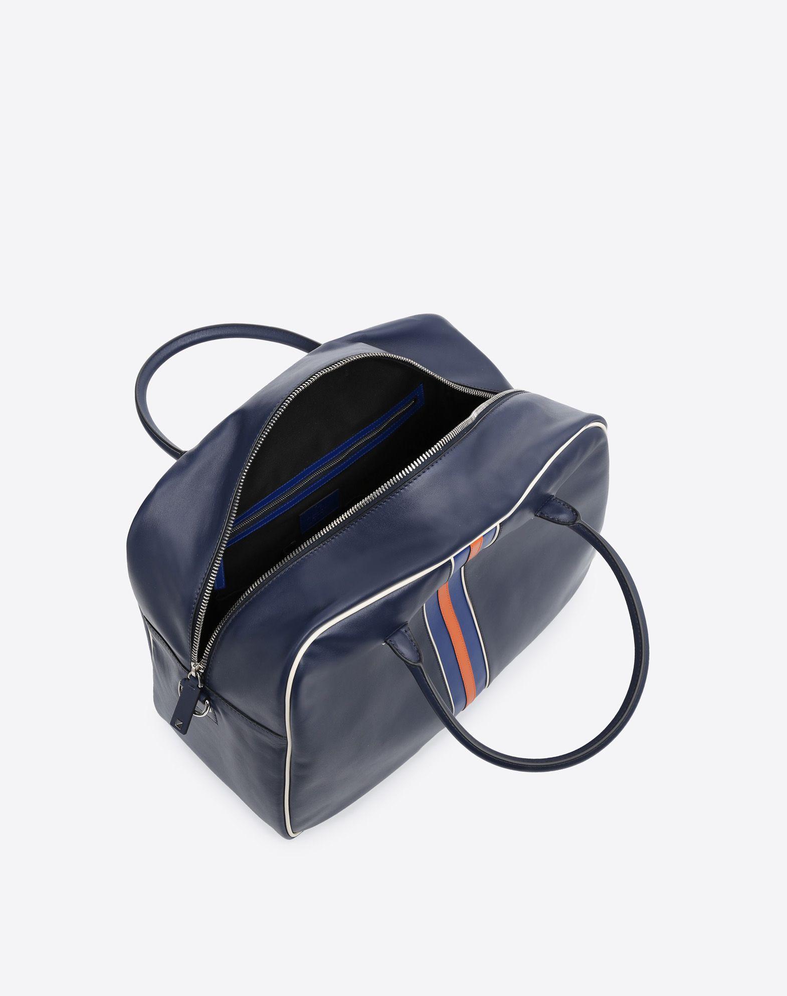 VALENTINO Logo Studs Dual zip closure Internal pockets Removable shoulder strap  45353085vv