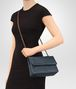 BOTTEGA VENETA SMALL OLIMPIA BAG IN DENIM INTRECCIATO NAPPA  Shoulder Bag Woman ap