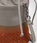 BOTTEGA VENETA MINI MESSENGER BAG IN FUME' NEW STEEL NEW EMBROIDERED NAPPA LEATHER ,INTRECCIATO DETAILS Borsa a Tracolla D ep