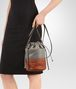 BOTTEGA VENETA BUCKET BAG IN FUME' STEEL EMBROIDERED NAPPA, INTRECCIATO DETAILS Crossbody bag D lp