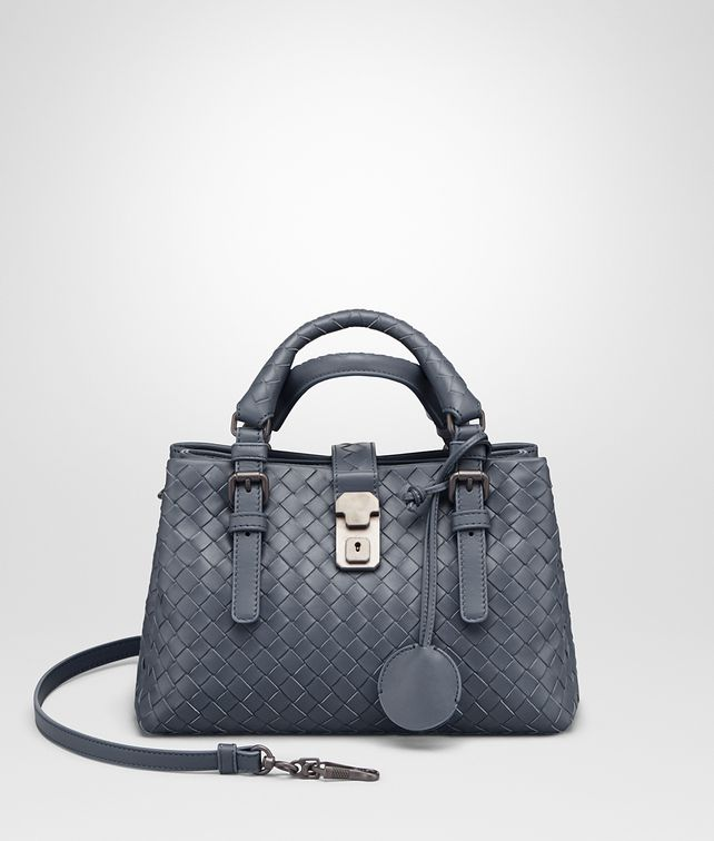 BOTTEGA VENETA MINI ROMA BAG IN KRIM INTRECCIATO CALF Top Handle Bag D fp