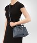 BOTTEGA VENETA MINI ROMA BAG IN KRIM INTRECCIATO CALF Top Handle Bag D lp