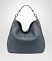 BOTTEGA VENETA MEDIUM LOOP BAG IN KRIM INTRECCIATO NAPPA LEATHER Shoulder Bag Woman fp