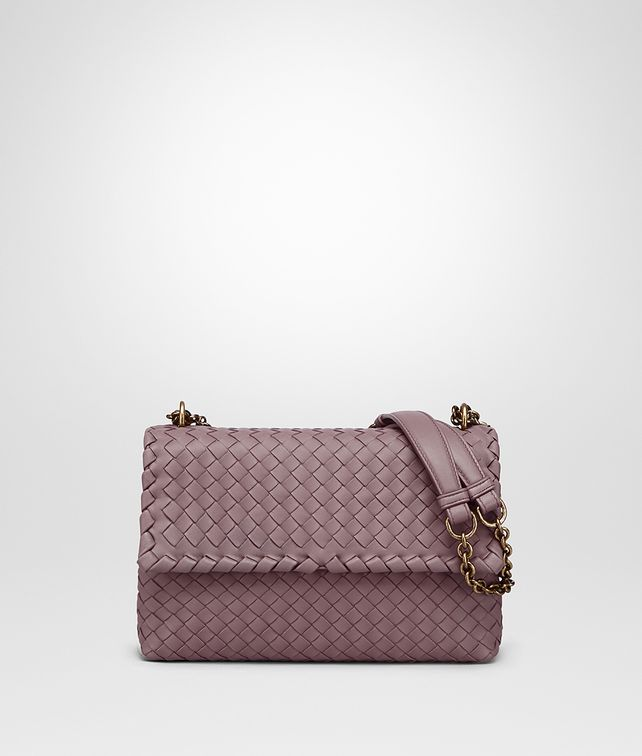 BOTTEGA VENETA SMALL OLIMPIA BAG IN GLICINE INTRECCIATO NAPPA LEATHER Shoulder or hobo bag Woman fp