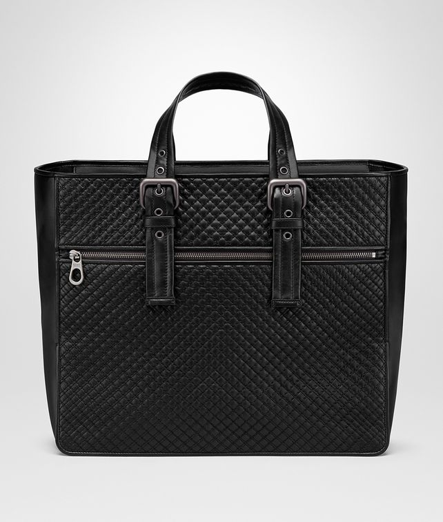 BOTTEGA VENETA TOTE BAG IN NERO EMBROIDERED CALF Tote Bag U fp