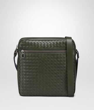 MESSENGER BAG IN MOSS INTRECCIATO VN