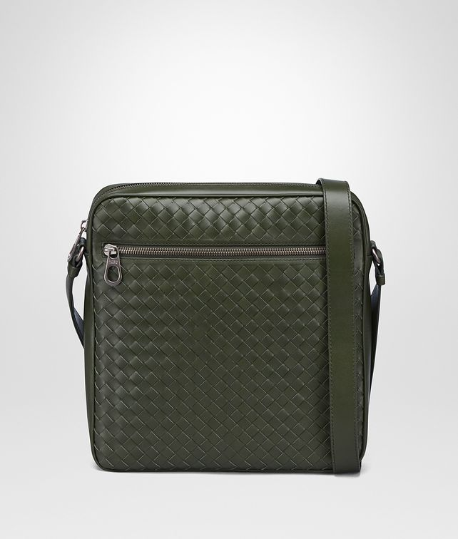 BOTTEGA VENETA MESSENGER BAG IN MOSS INTRECCIATO VN Messenger Bag U fp