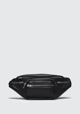 ATTICA FANNY PACK IN WASHED BLACK WITH RHODIUM