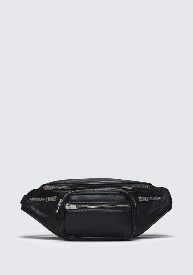 ALEXANDER WANG Shoulder bags Women ATTICA FANNY PACK IN WASHED BLACK WITH RHODIUM