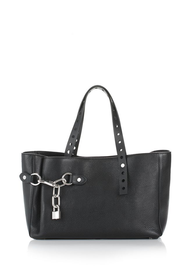 ALEXANDER WANG Shoulder bags Women ATTICA FOLD SATCHEL IN BLACK WITH RHODIUM