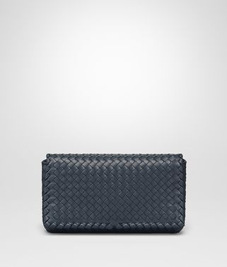 CLUTCH BAG IN DENIM INTRECCIATO NAPPA