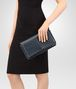 BOTTEGA VENETA MEDIUM CLUTCH BAG IN DENIM INTRECCIATO NAPPA LEATHER Clutch Woman ap