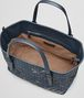 BOTTEGA VENETA MEDIUM TOTE BAG IN DENIM INTRECCIATO NAPPA, EMBROIDERED DETAILS Tote Bag D dp