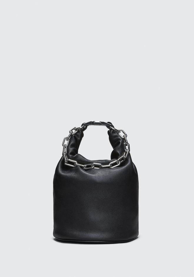 ALEXANDER WANG MESSENGER BAGS ATTICA DRY SACK IN BLACK WITH RHODIUM