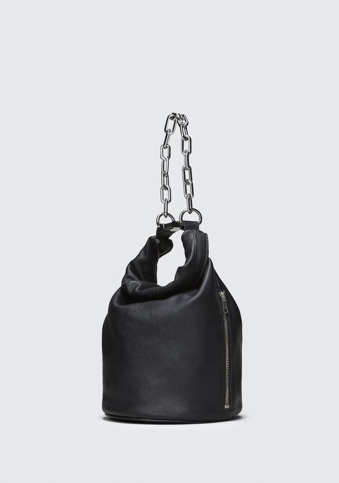 ALEXANDER WANG ATTICA DRY SACK IN BLACK WITH RHODIUM  Shoulder bag Adult 12_n_e