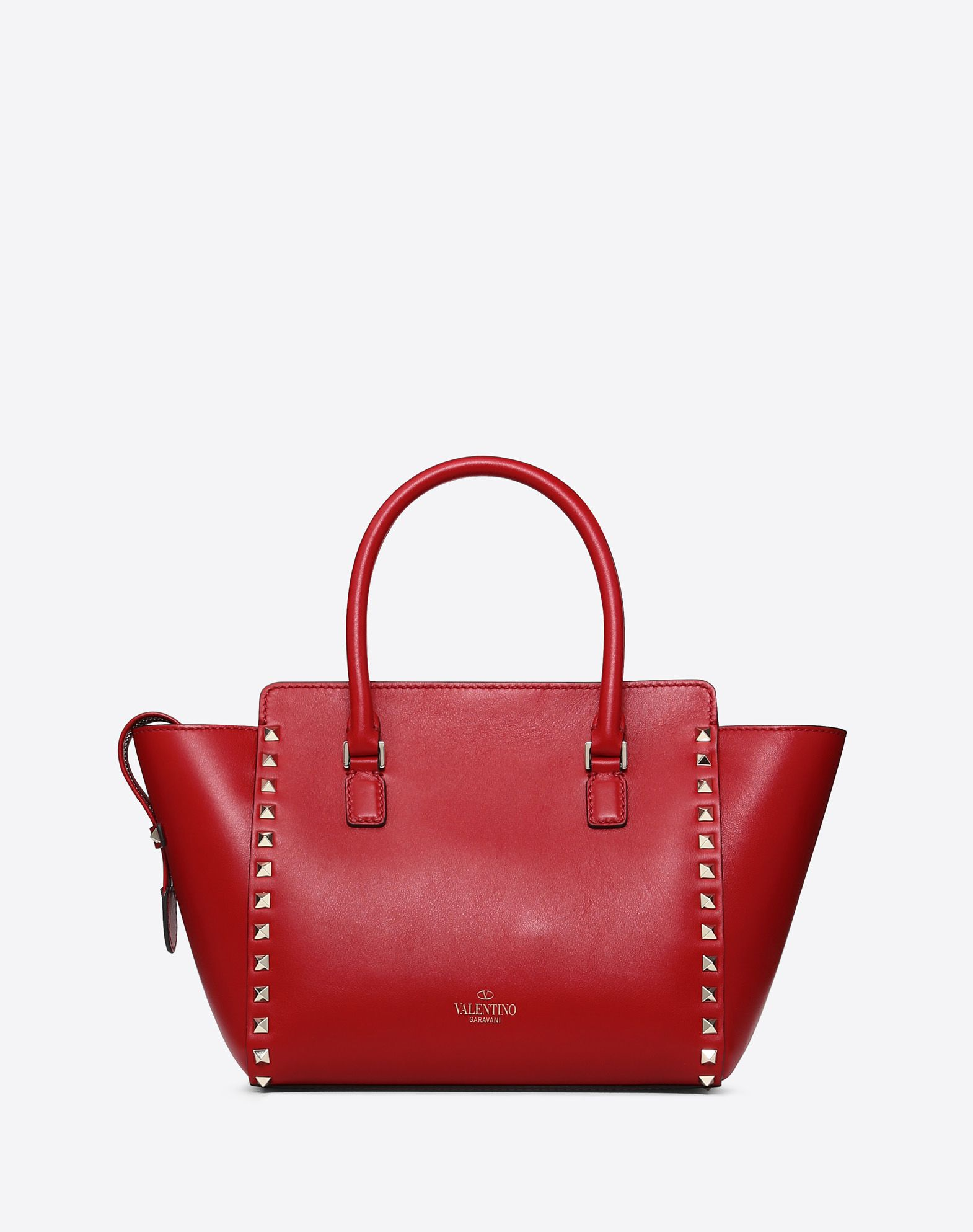 VALENTINO GARAVANI Rockstud Small Double Handle Bag HANDBAG D d