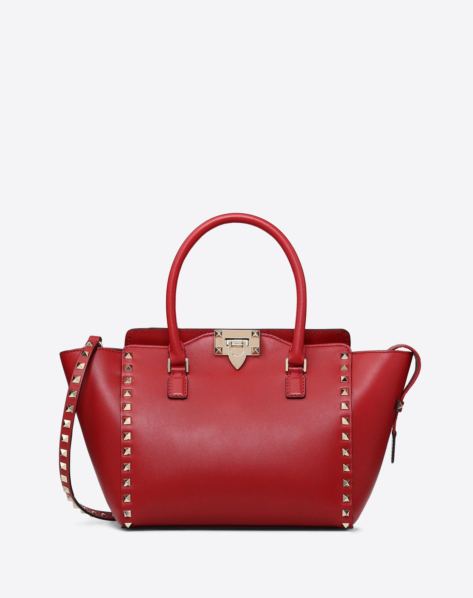 VALENTINO GARAVANI Rockstud Small Double Handle Bag HANDBAG D f