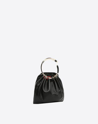 VALENTINO GARAVANI EVENING CLUTCH D Demilune Small Double Handle Bag r