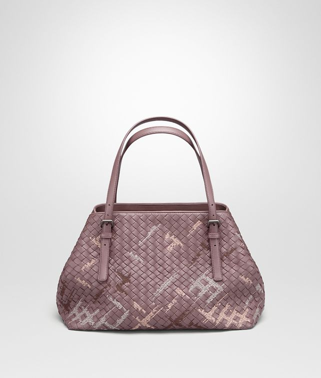 BOTTEGA VENETA MEDIUM TOTE BAG IN GLICINE INTRECCIATO NAPPA, EMBROIDERED DETAILS Tote Bag Woman fp