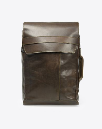 MAISON MARGIELA 11 Backpack U Calfskin flap backpack f