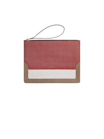 Marni TRUNK clutch in Saffiano leather Woman