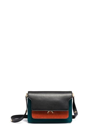 Marni TRUNK shoulder bag in tricolor leather Woman