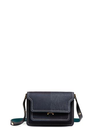 Marni TRUNK shoulder bag in denim Woman