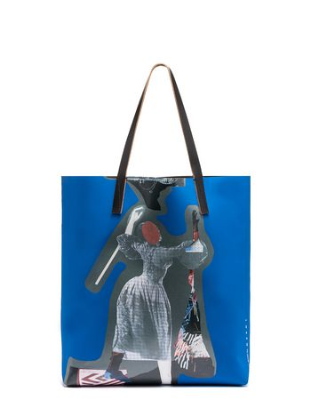 Marni SHOPPING bag Sally Smart blue Woman