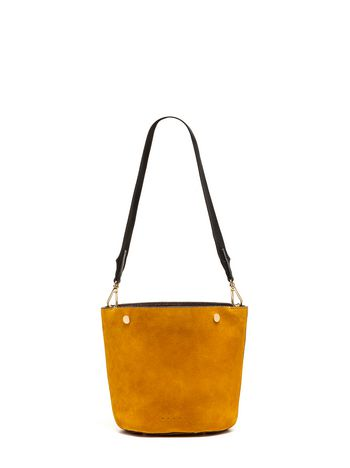 Marni BUCKET bag in suede yellow Woman