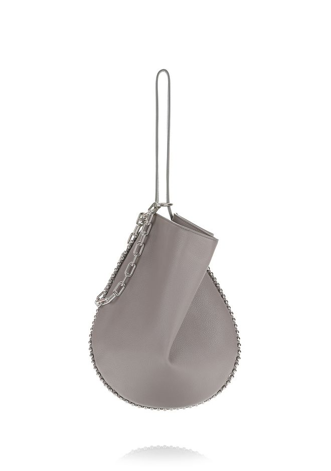 ALEXANDER WANG Shoulder bags Women ROXY HOBO IN PEBBLED GREY WITH RHODIUM
