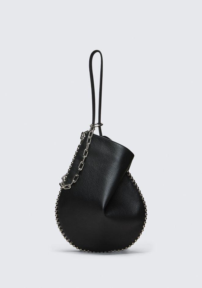 ALEXANDER WANG Shoulder bags Women ROXY HOBO IN PEBBLED BLACK WITH RHODIUM