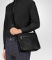 BOTTEGA VENETA MESSENGER BAG IN NERO EMBROIDERED CALF Messenger Bag Man ap