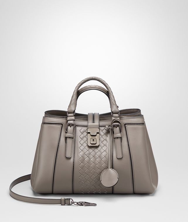 BOTTEGA VENETA SMALL ROMA BAG IN STEEL CALF Top Handle Bag D fp