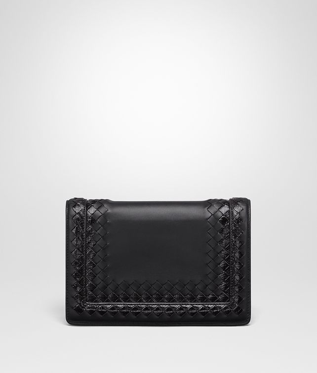 BOTTEGA VENETA NERO NAPPA LEATHER MONTEBELLO CLUTCH Clutch D fp